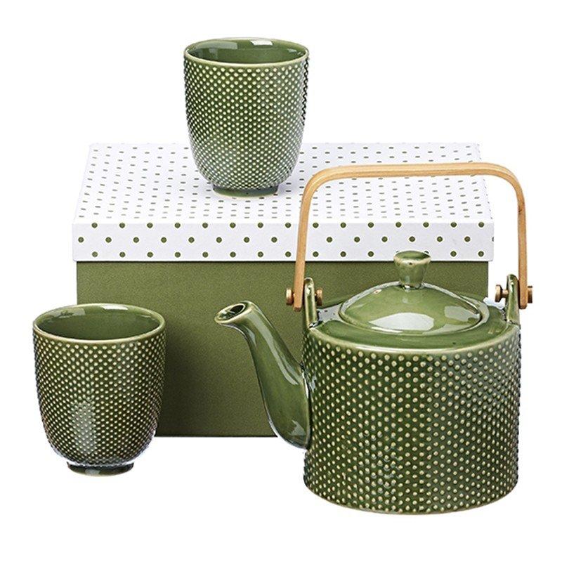Set da tè con teiera in ceramica e tazze coordinate - Castroni a Via Catania