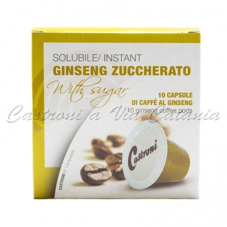 Caffè al ginseng zuccherato in capsule compatibili Nespresso Castroni a Via Catania