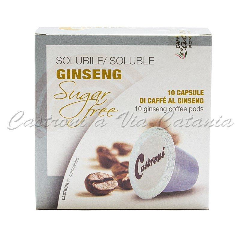 caffè al ginseng senza zucchero aggiunto in capsule compatibili Nespresso Castroni a Via catania