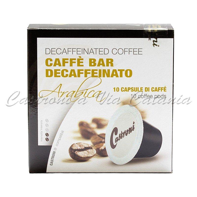 Miscela decaffeinato - Confezione 10 capsule compatibili Nespresso - Castroni Roma