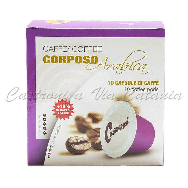 Capsule 100% Arabica gusto corposo compatibili Nespresso Castroni a Via Catania