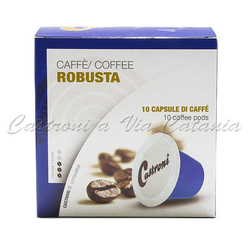 Caffè miscela robusta capsule compatibili Nespresso Castroni a Via Catania