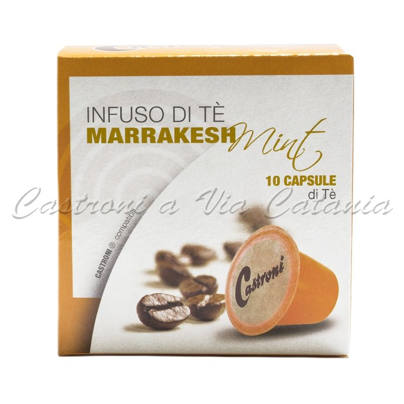 Tè Marocchino alla menta in capsule compatibili Nespresso Castroni a Via Catania