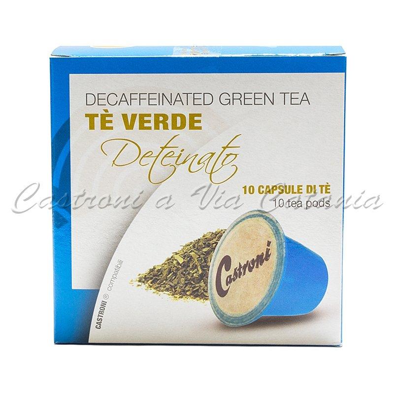 Capsule tè verde deteinato compatibili Nespresso Castroni a Via Catania