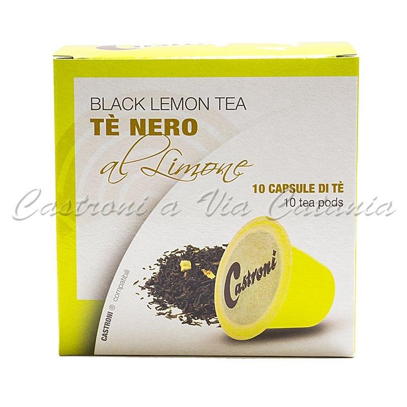Tè nero al limone capsule compatibili nespresso castroni a via catania