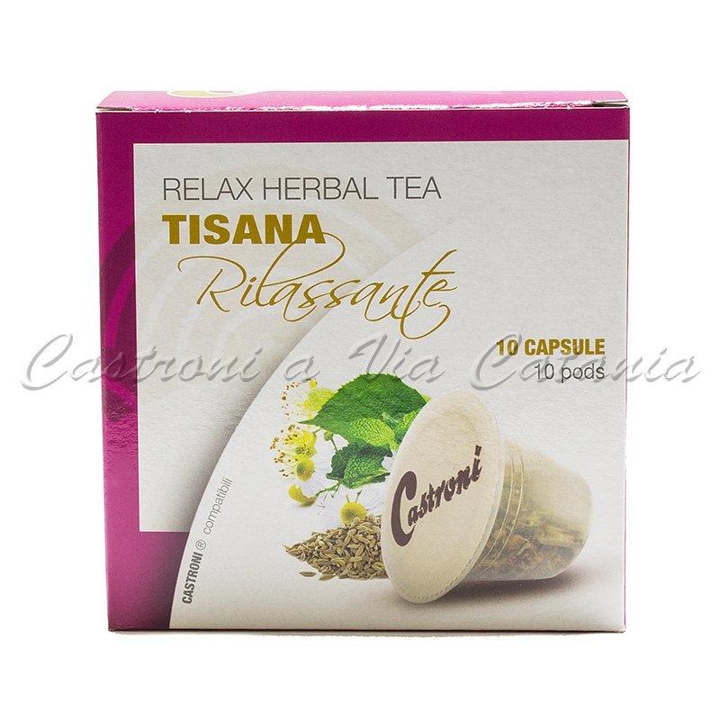 Tisana rilassante in capsule compatibili Nespresso Castroni a Via Catania