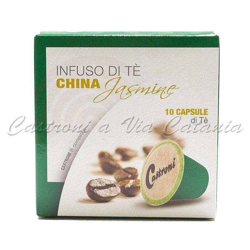 tè verde al gelsomino in capsule compatibili nespresso castroni a via catania