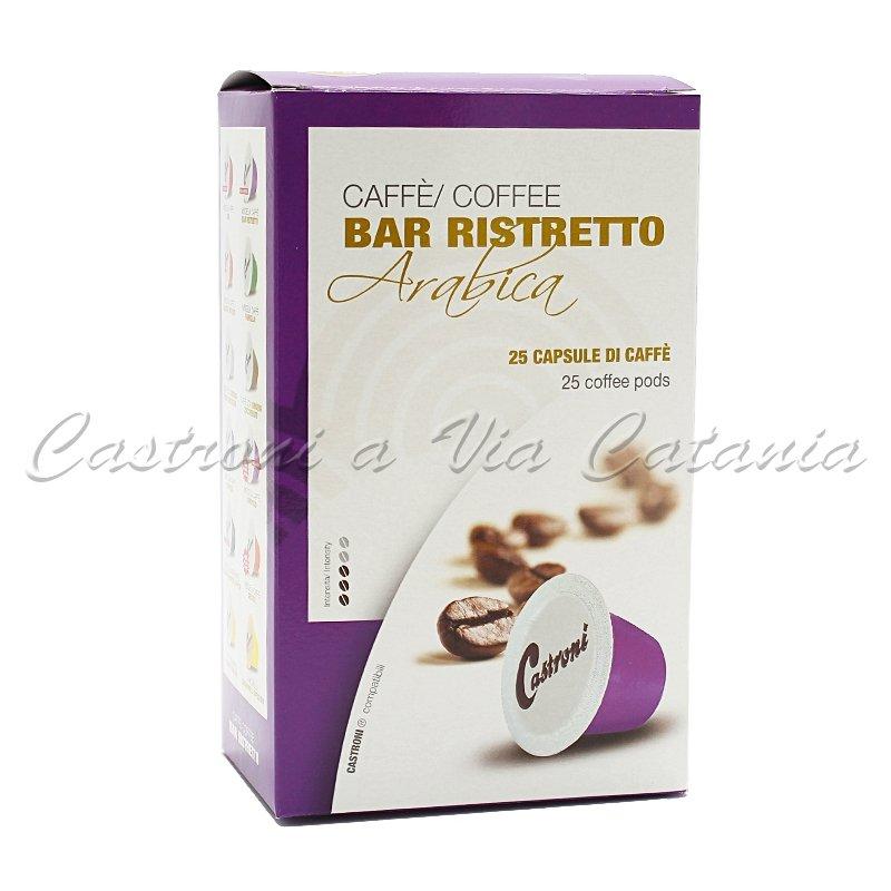 Caffè Castroni in capsule compatibili Nespresso - Miscela Ristretto
