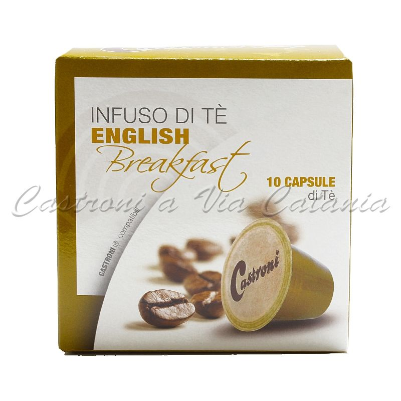 Tè English Breakfast in capsule compatibili Nespresso - Castroni Roma