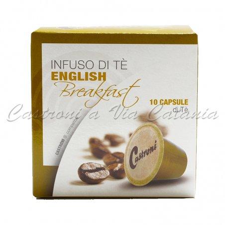 Tè English Breakfast in capsule compatibili Nespresso - Castroni Roma