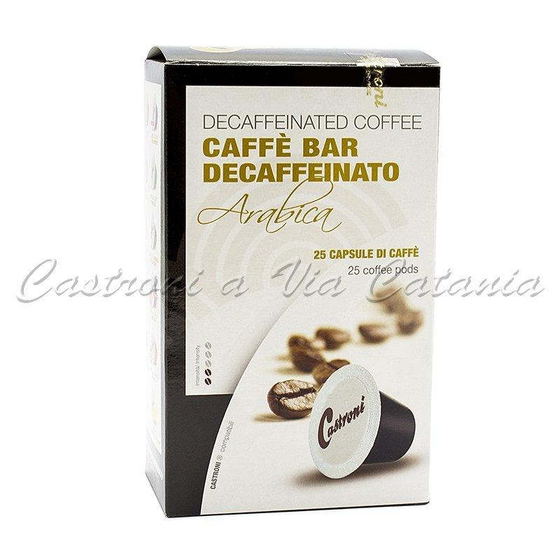 Caffè Castroni in capsule compatibili Nespresso - Miscela Decaffeinato