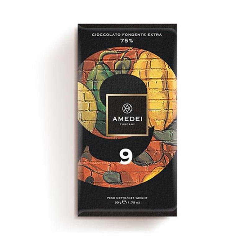 """Tavoletta di cioccolato fondente extra 75% - """"9"""" Amedei - Castroni"""