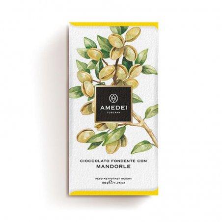 Tavoletta di Cioccolato Fondente con Mandorle - Amedei Tuscany - Castroni Roma