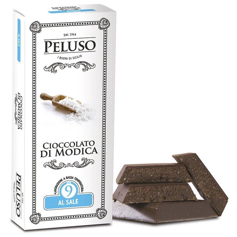 Tavoletta di cioccolato di Modica Fondente al Sale - Peluso - Castroni Via Catania