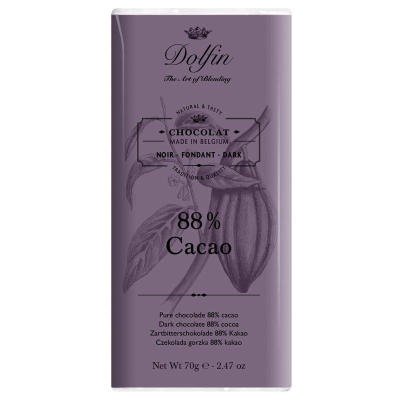 Tavoletta fondente 88% - Dolfin Chocolate - Castroni Roma