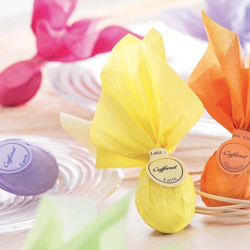 Ovetti fazzolettati  latte e gianduia Caffarel - Pasqua Castroni