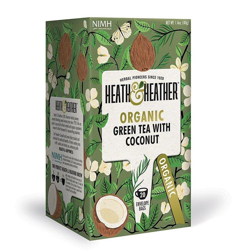 Tè verde bio con cocco - Heath & Heather - Castroni Roma