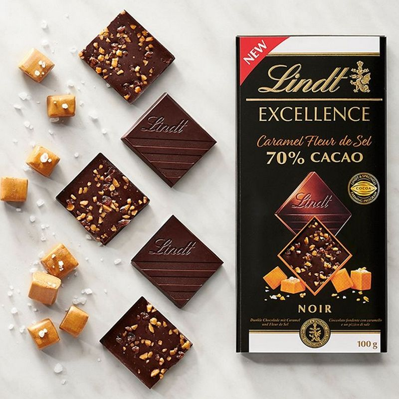Lindt Excellence 70% Caramello e Sale - Castroni a Via Catania