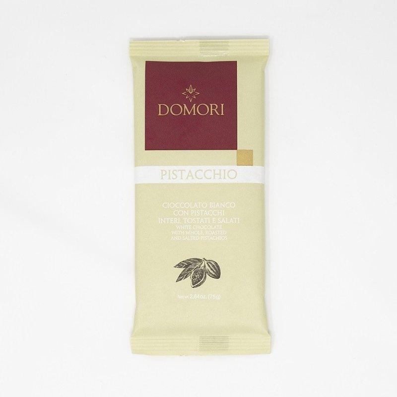 Domori Tavoletta Cioccolato Bianco con Pistacchio - Castroni Roma