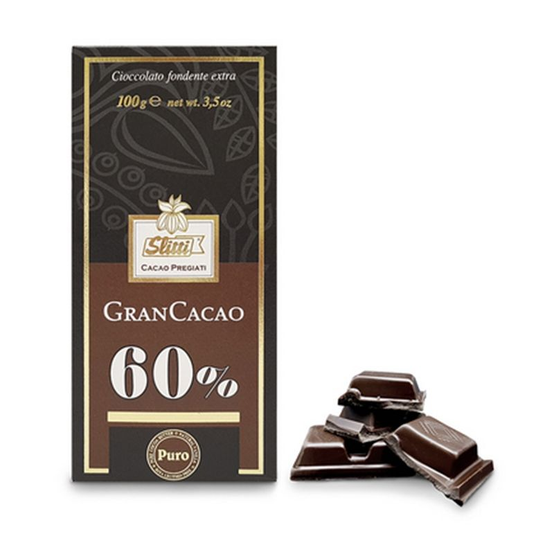 Tavoletta Fondente Gran Cacao 60% Slitti - Castroni Roma