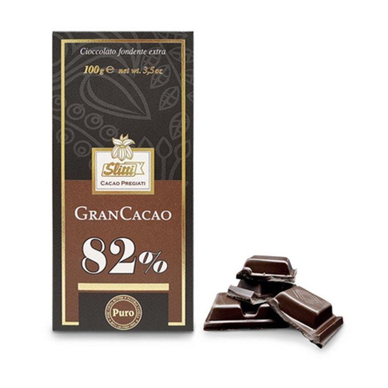 Tavoletta di cioccolato fondente extra 82% - Slitti - Castroni Via Catania - Roma