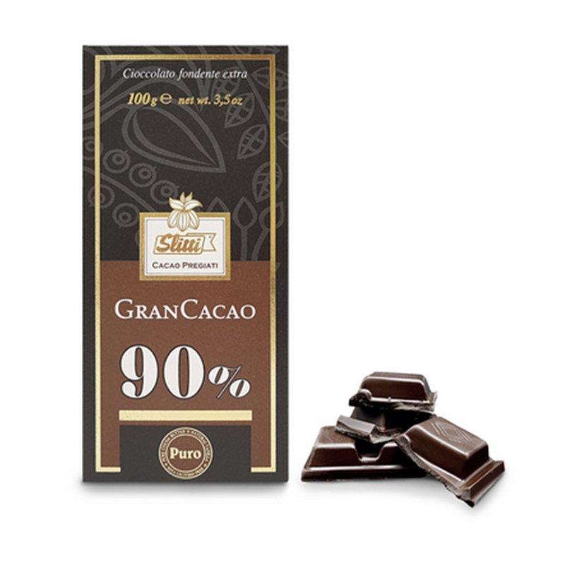 Tavoletta di cioccolato fondente extra 90% - Slitti - Castroni Via Catania - Roma