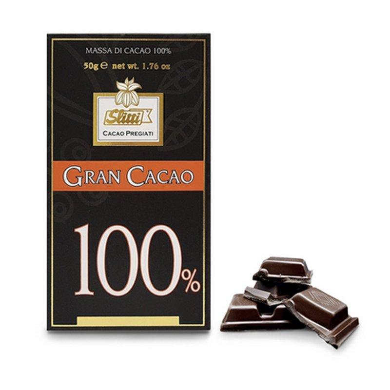 Tavoletta di cioccolato fondente extra 100% - Slitti - Castroni Via Catania -