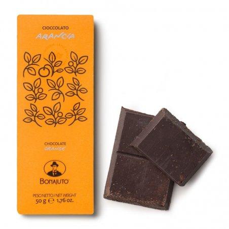 Cioccolato di Modica Bonajuto - Tavoletta all'Arancia - Castroni Roma