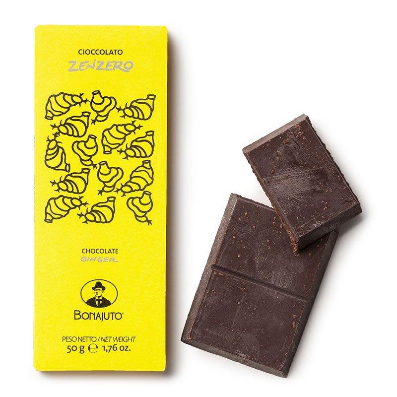 Cioccolato di Modica Bonajuto - Tavoletta allo Zenzero - Castroni Roma