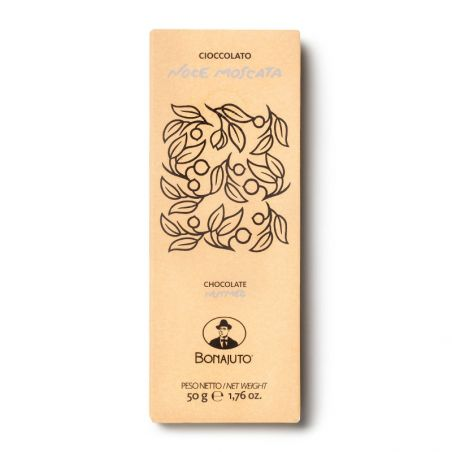 Cioccolato di Modica - Tavoletta con Noce Moscata - Bonajuto