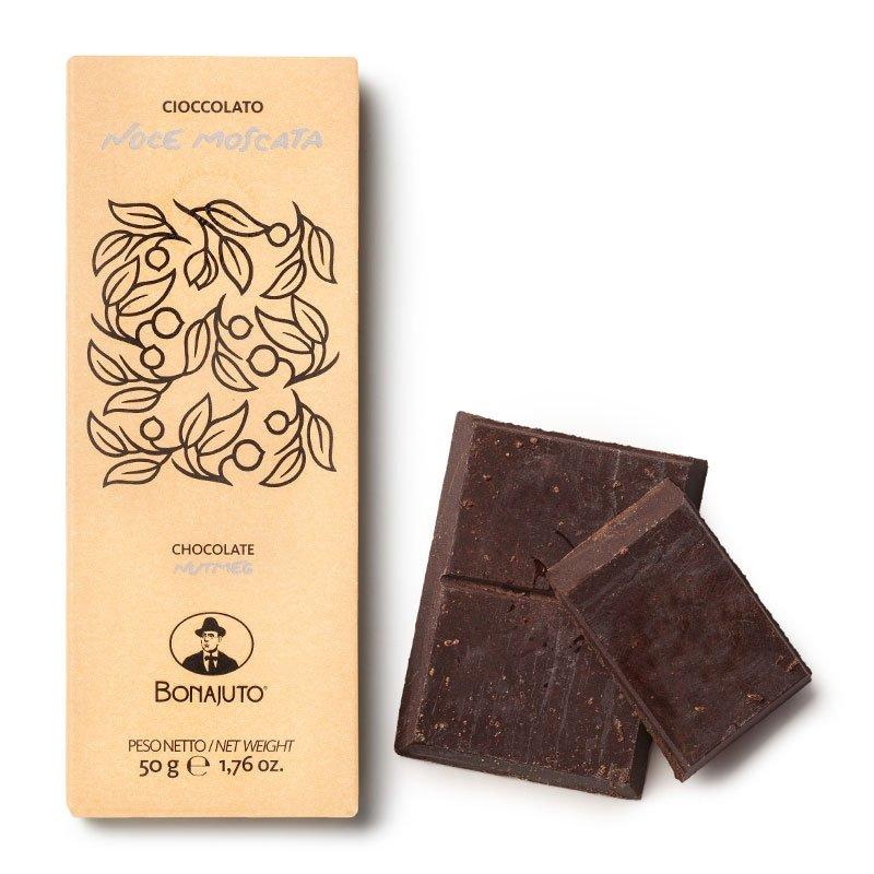 Cioccolato di Modica Bonajuto - Tavoletta con Noce Moscata - Castroni Roma