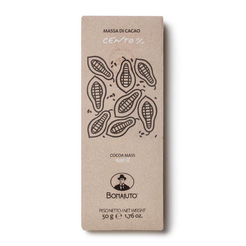 Cioccolato di Modica - Tavoletta Massa di Cacao 100% - Bonajuto