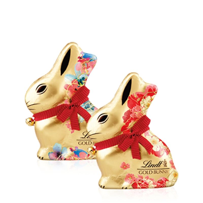Lindt - Gold Bunny Latte Flower - Castroni Roma