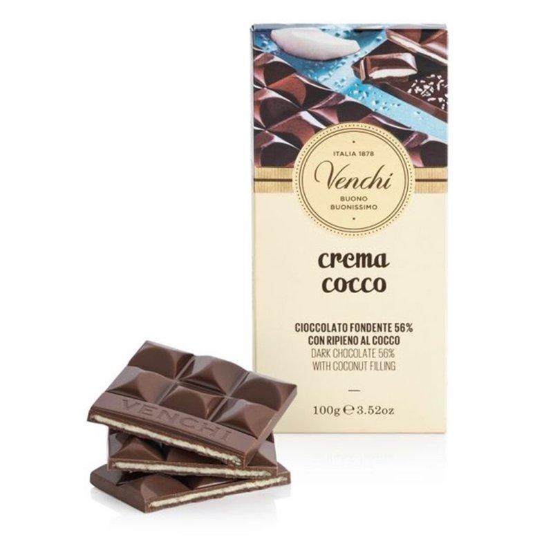 Tavoletta di Cioccolato Fondente Ripiena al Cocco -  Venchi