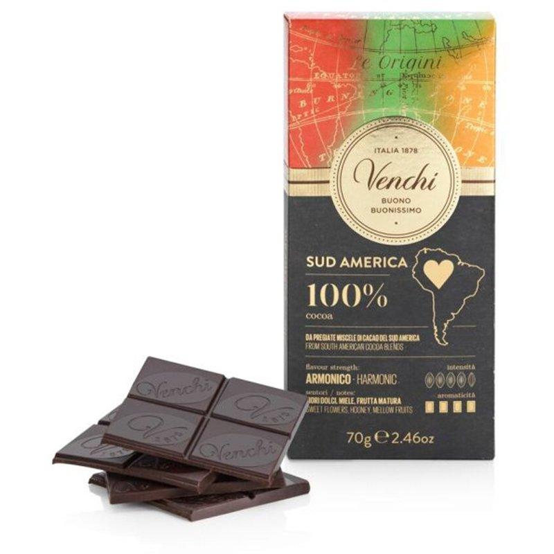 Tavoletta Venchi Sud America Cioccolato Fondente 100% - Castroni
