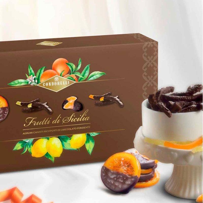 Scorzette assortite ricoperte di cioccolato fondente - Condorelli - Castroni Roma