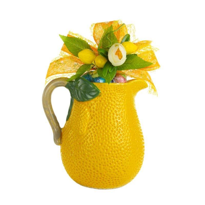 Caraffa texture Limone - Pasqua - Confezione Castroni