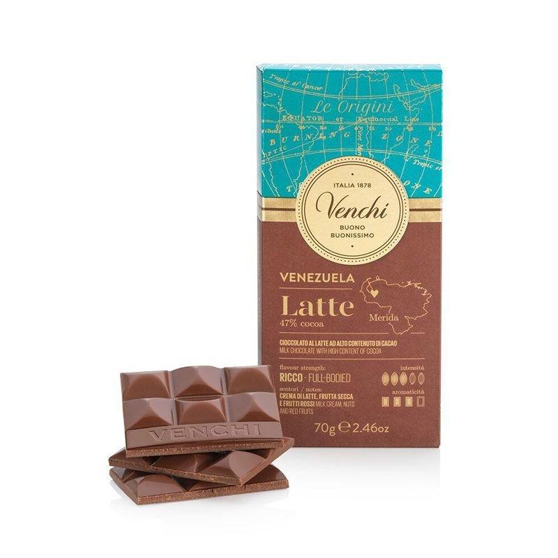 Tavoletta di Cioccolato al Latte Venezuela Venchi - Castroni Via Catania