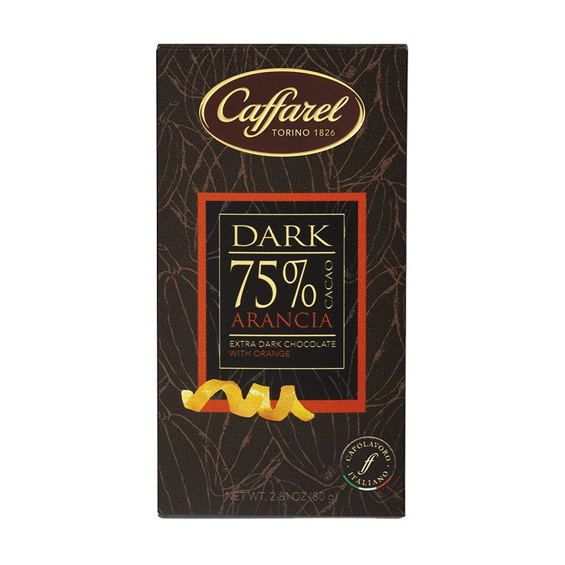Tavoletta Caffarel di Cioccolato Extra Fondente 75% con Arancia - Castroni Via Catania