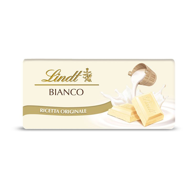 Tavoletta classica di cioccolato bianco Lindt - Castroni Via Catania Roma