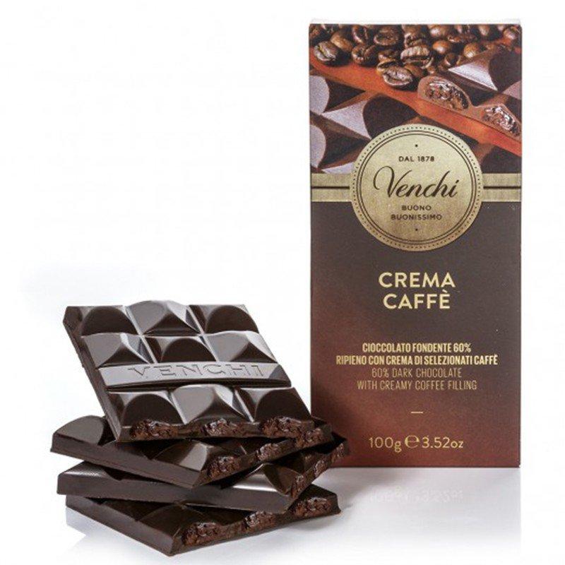 Tavoletta di Cioccolato Fondente Ripiena al Caffè - Venchi - Castroni Roma