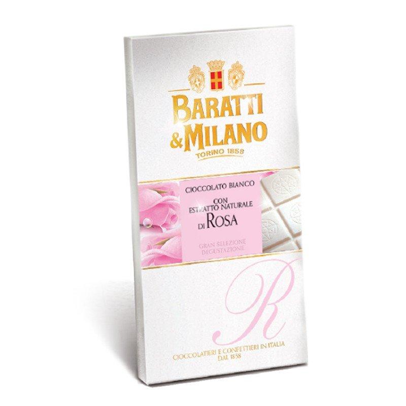 Tavoletta di cioccolato bianco alla Rosa Baratti & Milano - Castroni
