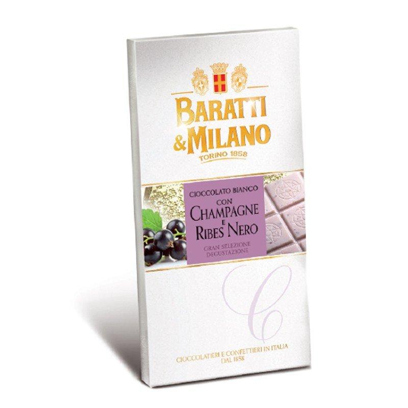 Tavoletta Baratti & Milano Cioccolato Bianco con Champagne e Ribes Nero