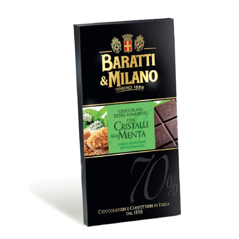 Tavoletta Fondente con Cristalli di Menta Baratti & Milano - Castroni Via Catania