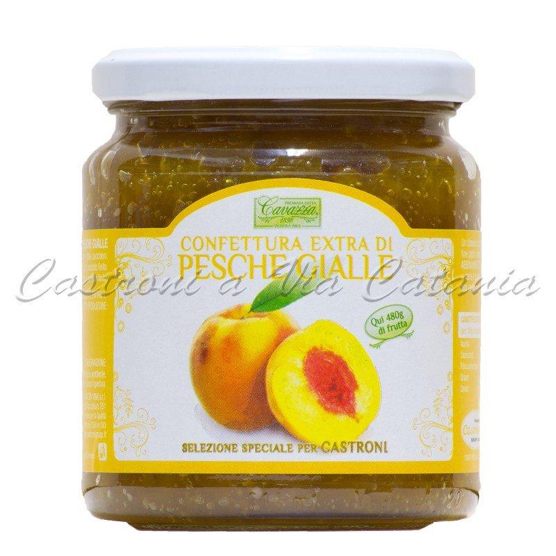Confettura Extra di Pesche Gialle Cavazza - Selezione speciale per Castroni