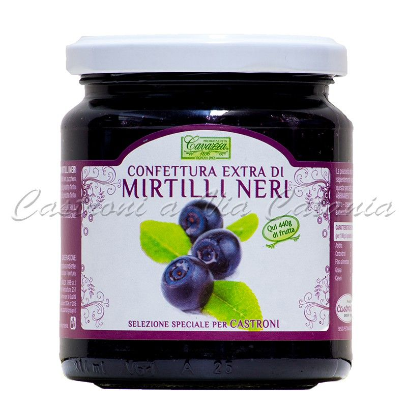 Confettura Extra di Mirtilli Neri Cavazza - Selezione speciale per Castroni