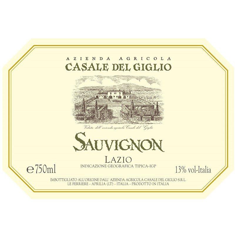 Etichetta sauvignon Casale del Giglio - Enoteca Castroni Roma
