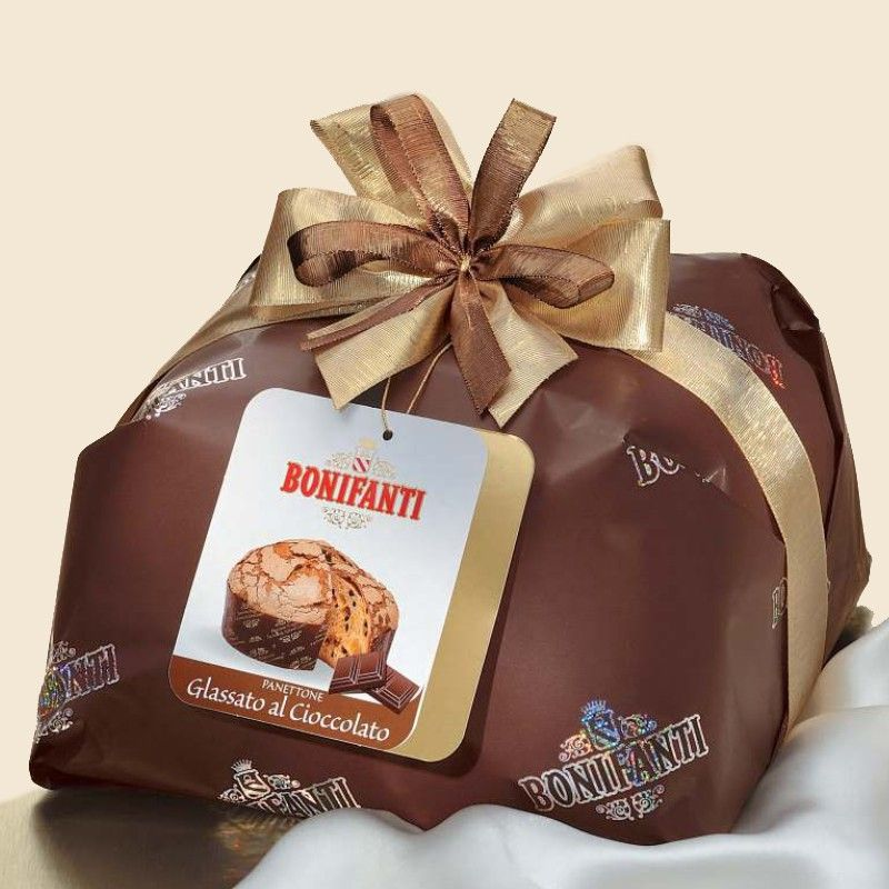 Panettone con pezzi di Cioccolato Fondente Bonifanti - Castroni Roma
