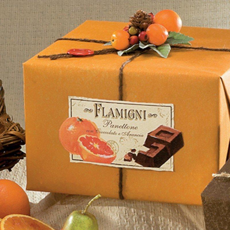 Panettone Flamigni Arancia e Cioccolato - Castroni Roma