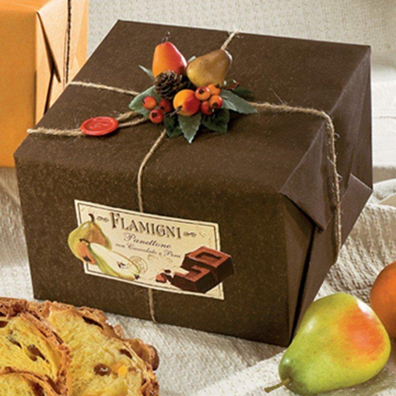 Panettone Pera & Cioccolato Flamigni - castroni Roma